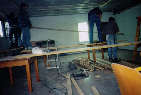 Der Bau des Vereinslokals